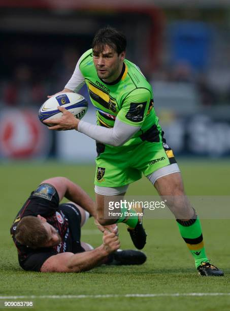 Ben Foden of Northampton Saints during the European Rugby Champions Cup match between Saracens and Northampton Saints at Allianz Park on January 20...
