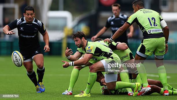 Ben Foden of Northampton Saints in action during the Aviva Premiership match between Newcastle Falcons and Northampton Saints at Kingston Park on...