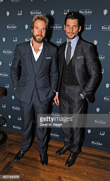 Ben Fogle and David Gandy attends a drinks reception hosted by Ben Fogle and Bernie Shrosbree to celebrate Johnnie Walker Blue Label Alfred Dunhill...