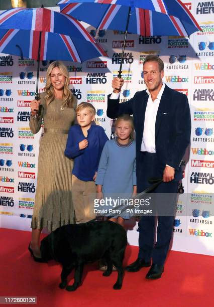 Ben Fogle and family attending the Mirror Animal Hero Awards 2019, in partnership with People's Postcode Lottery and Webbox, held at the Grosvenor...