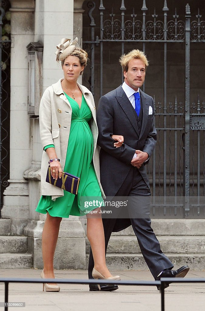 Ben Fogle and his wife Marina arrive to attend the Royal Wedding of Prince William to Catherine Middleton at Westminster Abbey on April 29, 2011 in London, England. The marriage of the second in line to the British throne is to be led by the Archbishop of Canterbury and will be attended by 1900 guests, including foreign Royal family members and heads of state. Thousands of well-wishers from around the world have also flocked to London to witness the spectacle and pageantry of the Royal Wedding.