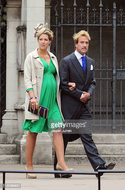 Ben Fogle and his wife Marina arrive to attend the Royal Wedding of Prince William to Catherine Middleton at Westminster Abbey on April 29 2011 in...
