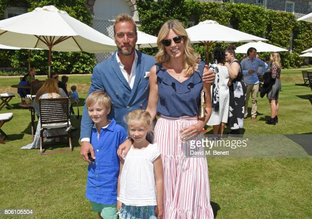 Ben Fogle and Marina Fogle with children Ludo and Iona attend Cartier Style Et Luxe at the Goodwood Festival Of Speed on July 2 2017 in Chichester...