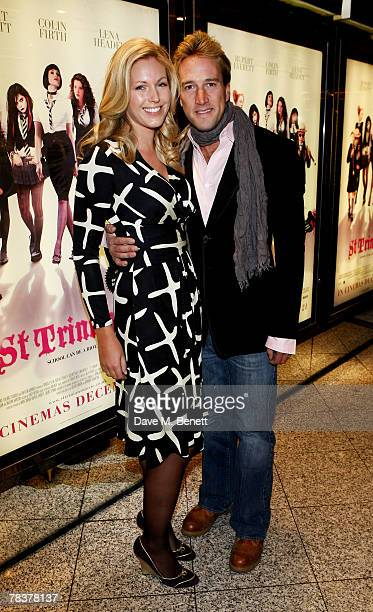 Ben Fogle and Marina Hunt arrive at the world premiere of St Trinian's at the Empire Leicester Square on December 10 2007 in London England