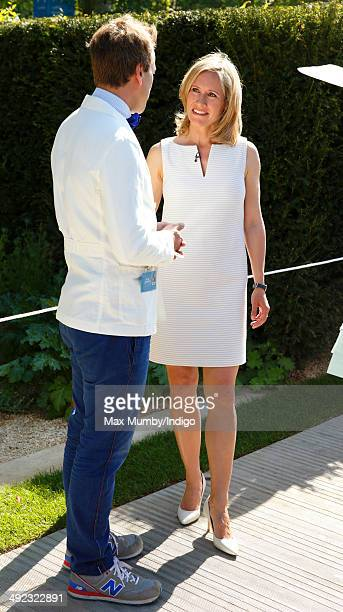 Ben Fogle and Sophie Raworth attend the VIP preview day of The Chelsea Flower Show at The Royal Hospital Chelsea on May 19 2014 in London England