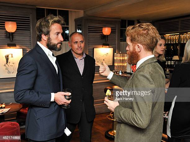 Ben Fogle Bernie Shrosbree and Sean Conway attend Johnnie Walker Blue Label Alfred Dunhill 'A Journey Shared' Dinner at 34 Grosvenor Square on...