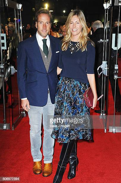 Ben Fogle with wife Marina Fogle attend 'Dad's Army' World Premiere on January 26 2016 in London United Kingdom