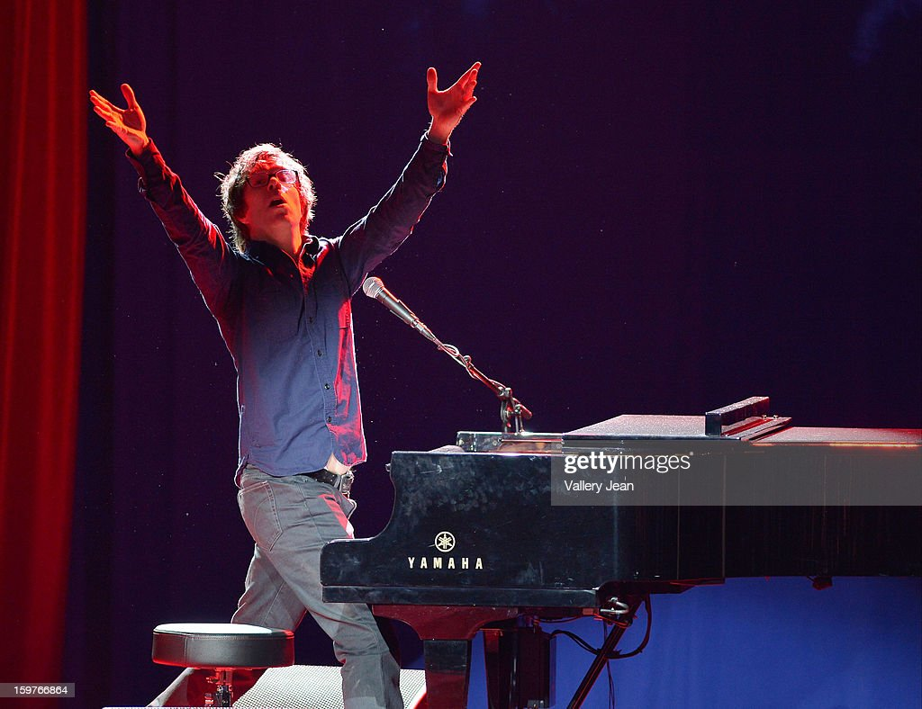 Ben Folds performs at the Presidential National Day Of Service at National Mall on January 19, 2013 in Washington, DC.