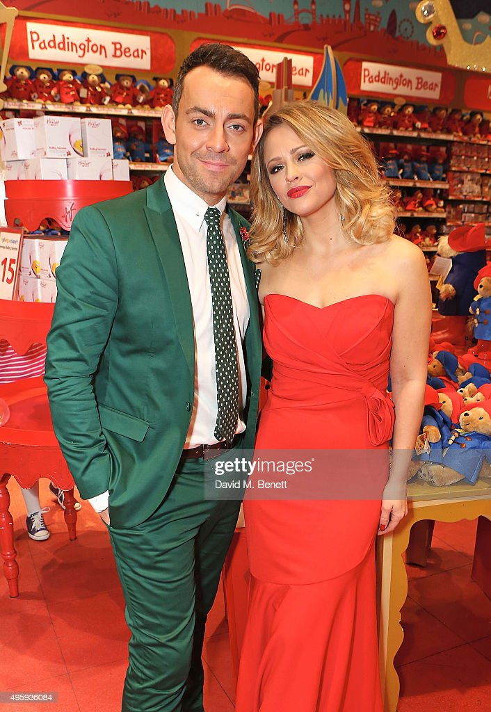 Ben Forster and Kimberley Walsh attend the press night after party for 'Elf: The Musical' at the Dominion Theatre on November 5, 2015 in London, England.