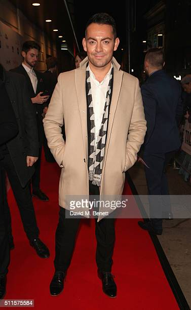 Ben Forster attends the 16th Annual WhatsOnStage Awards at The Prince of Wales Theatre on February 21 2016 in London England