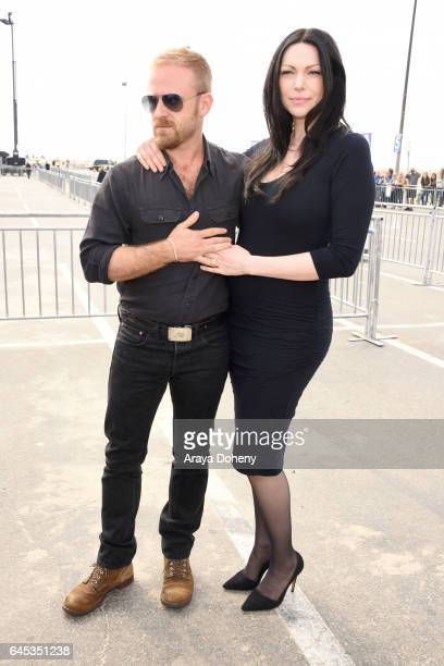 Ben Foster and actress Laura Prepon during the 2017 Film Independent Spirit Awards at the Santa Monica Pier on February 25 2017 in Santa Monica...