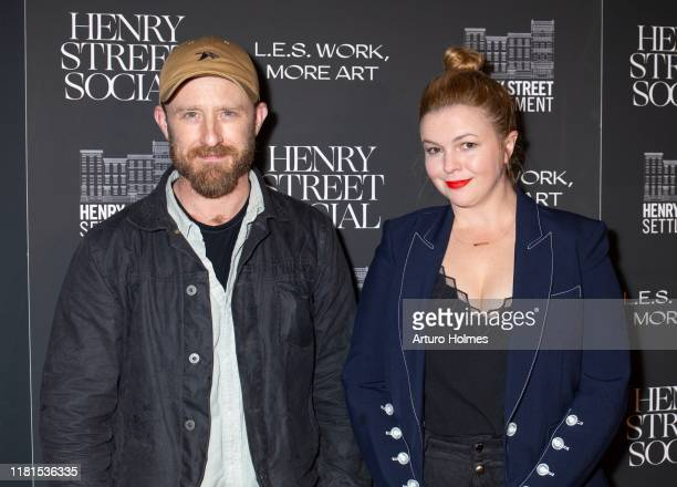 Ben Foster and Amber Tamblyn attend the 2019 Henry Street Social LES Work More Art Gala at The Bowery Hotel on October 16 2019 in New York City