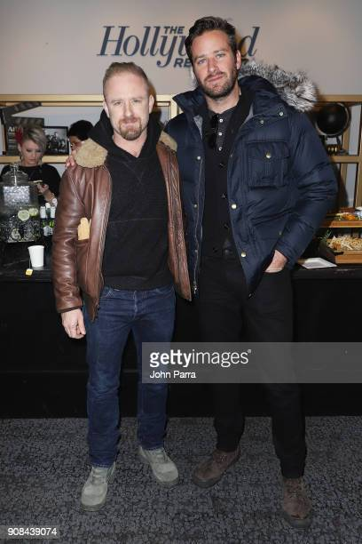 Ben Foster and Armie Hammer attend The Hollywood Reporter 2018 Sundance Studio At Sky Strada Park City during the 2018 Sundance Film Festival on...