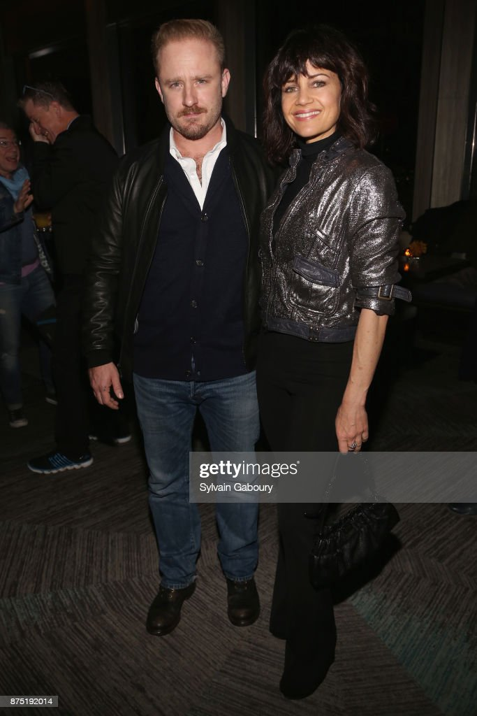 Ben Foster and Carla Gugino attend Calvin Klein and The Cinema Society host the after party for Sony Pictures Classics' 'Call Me By Your Name' on November 16, 2017 in New York City.