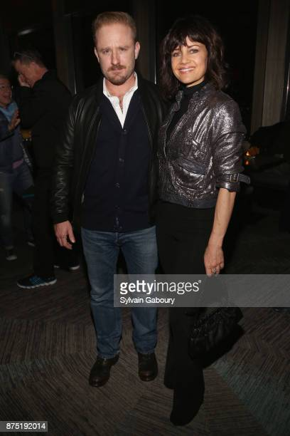 Ben Foster and Carla Gugino attend Calvin Klein and The Cinema Society host the after party for Sony Pictures Classics' 'Call Me By Your Name' on...