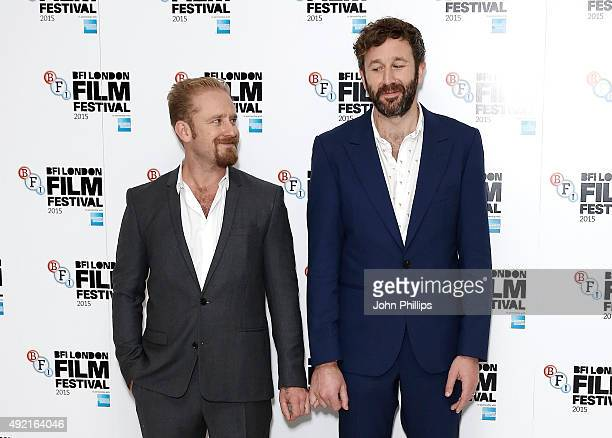 Ben Foster and Chris O'Dowd attend the 'The Program' screening during the BFI London Film Festival at Vue Leicester Square on October 10 2015 in...