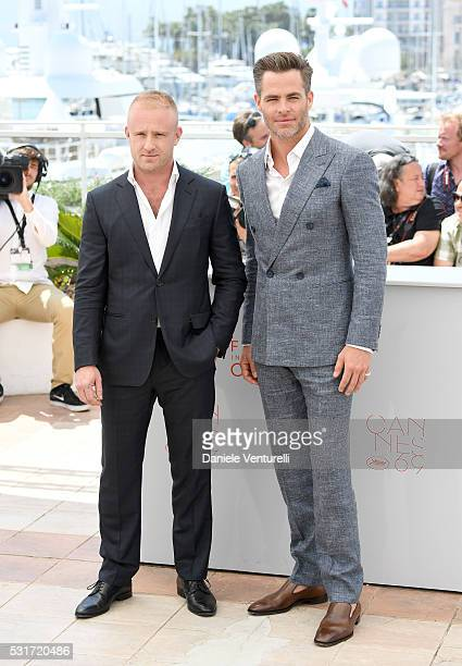 Ben Foster and Chris Pine attends the 'Hell Or High Water' Photocall during the 69th Annual Cannes Film Festival on May 16 2016 in Cannes France