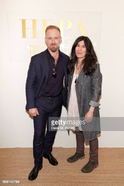 Ben Foster and Debra Granik attend the Leave No Trace party presented by Perrier-Jouet at Nikki Beach on May 13, 2018 in Cannes, France.