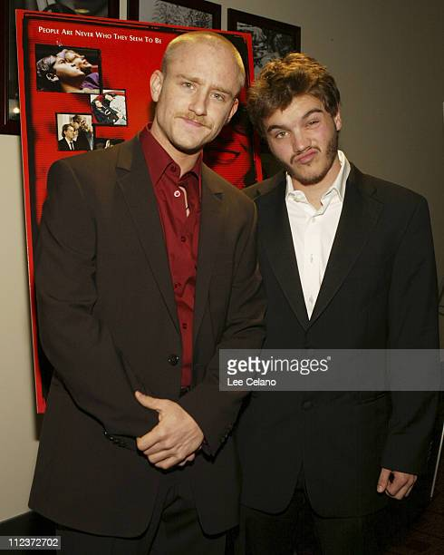 Ben Foster and Emile Hirsch during 'Imaginary Heroes' Los Angeles Premiere Red Carpet at The Arclight in Los Angeles California United States