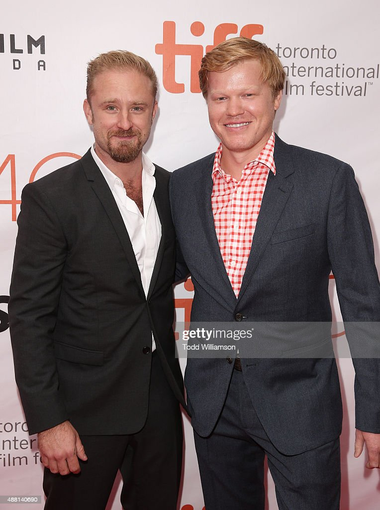 Ben Foster and Jesse Plemons attend the 2015 Toronto International Film Festival - 'The Program' Premiere at Roy Thomson Hall on September 13, 2015 in Toronto, Canada.
