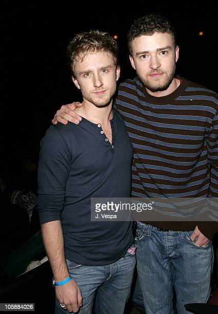 Ben Foster and Justin Timberlake during 2006 Sundance Film Festival 'Alpha Dog' Premiere Arrivals at The Eccles in Park City Utah United States
