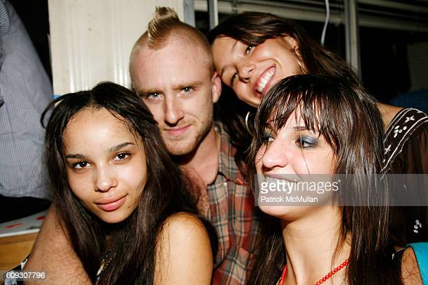 Ben Foster and Ladies attend 9th Annual Milk Summer BBQ at Milk Studios Loading Dock on July 12 2007 in New York City