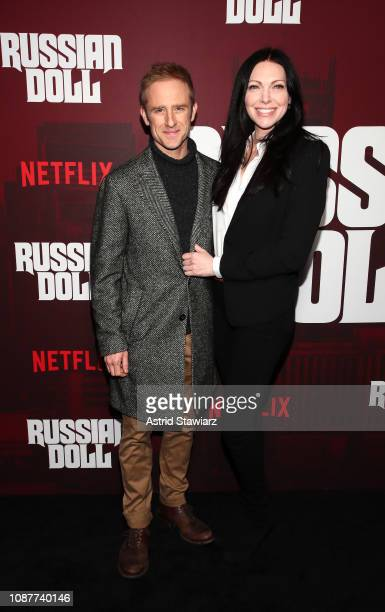 Ben Foster and Laura Prepon attend Russian Doll Premiere at The Metrograph on January 23 2019 in New York City