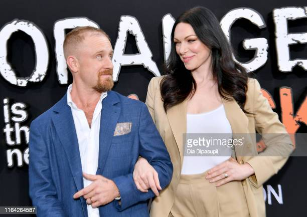 Ben Foster and Laura Prepon attend the Orange is the New Black Season 7 World Premiere Screening and Afterparty 2019 on July 25 2019 in New York City