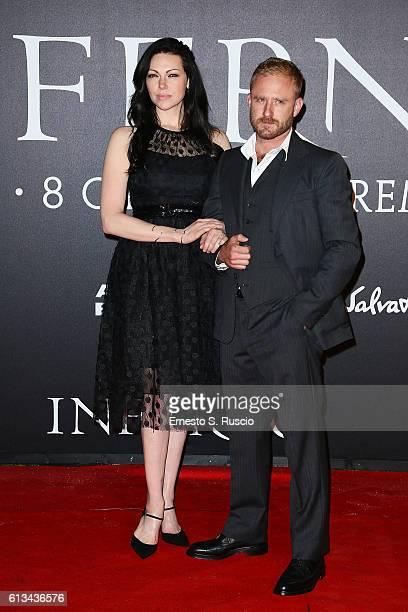 Ben Foster and Laura Prepon walk the red carpet at 'Inferno' premiere on October 8 2016 in Florence Italy