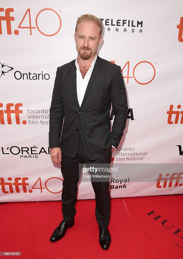 Ben Foster attends the 2015 Toronto International Film Festival - 'The Program' Premiere at Roy Thomson Hall on September 13, 2015 in Toronto, Canada.