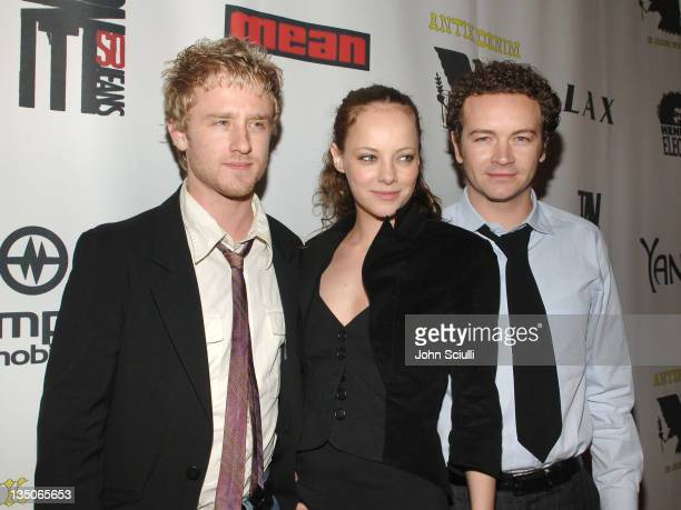 Ben Foster, Bijou Phillips and Danny Masterson during Joy Bryant, Elizabeth Banks and Bijou Phillips Host Mean Magazine Release Party Sponsored by...