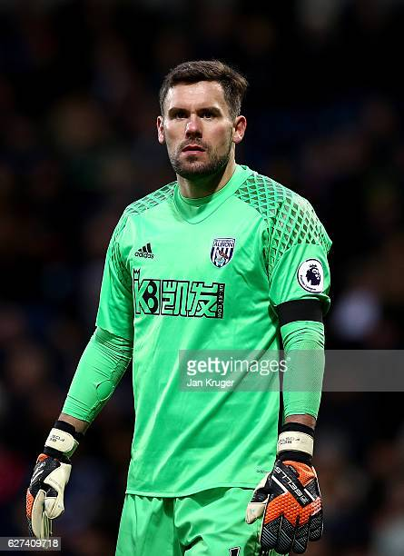 Ben Foster goalkeeper of West Bromwich Albion looks on during the Premier League match between West Bromwich Albion and Watford at The Hawthorns on...