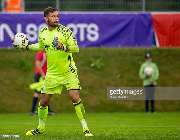Ben Foster goalkeeper of West Bromwich Albion seen during a friendly match against Paris St Germain on July 13 2016 in Schladming Austria
