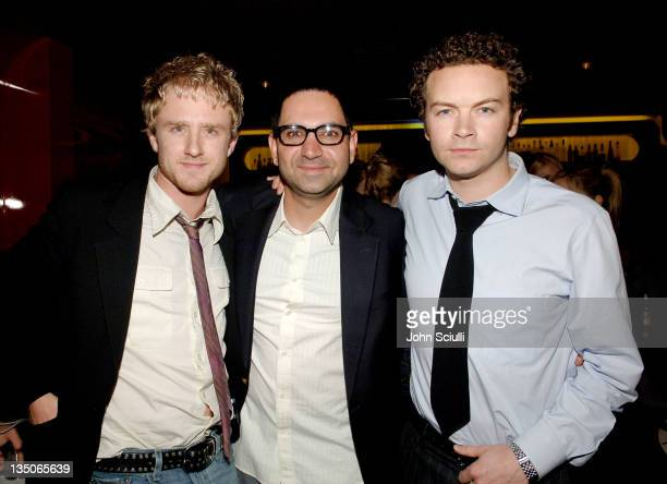 Ben Foster, Kashy Khaledi and Danny Masterson during Joy Bryant, Elizabeth Banks and Bijou Phillips Host Mean Magazine Release Party Sponsored by...
