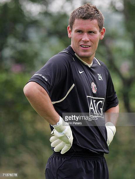 Ben Foster of Manchester United in action during a first team training session at Carrington Training Ground on July 6 2006, in Manchester, England.