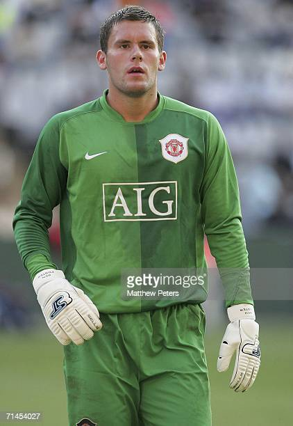 Ben Foster of Manchester United in action during the match against Orlando Pirates as part of their preseason tour of South Africa at the ABSA...