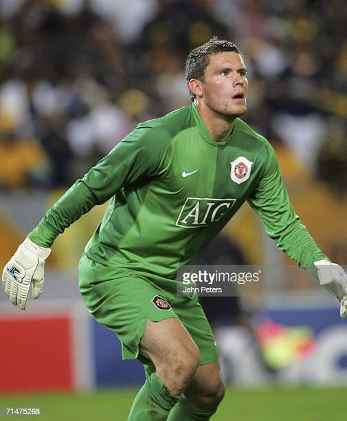 Ben Foster of Manchester United in action during the match against Kaizer Chiefs as part of their preseason tour of South Africa at the Newlands...