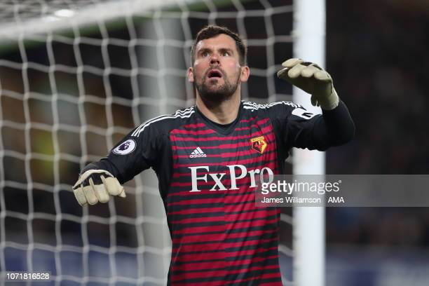 Ben Foster of Watford during the Premier League match between Everton FC and Watford FC at Goodison Park on December 10 2018 in Liverpool United...
