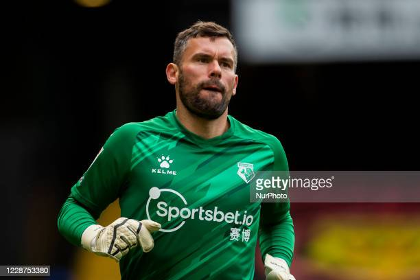 Ben Foster of Watford during the Sky Bet Championship match between Watford and Luton Town at Vicarage Road Watford England on September 26 2020