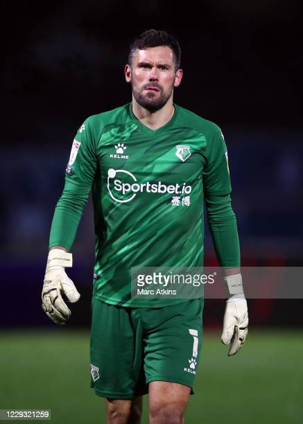 Ben Foster of Watford during the Sky Bet Championship match between Wycombe Wanderers and Watford at Adams Park on October 27, 2020 in High Wycombe,...
