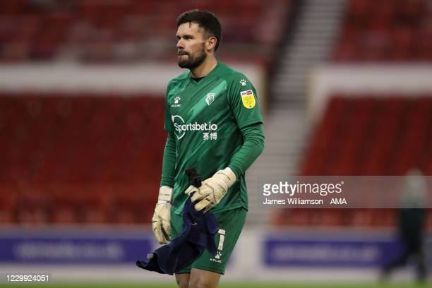 Ben Foster of Watford during the Sky Bet Championship match between Nottingham Forest and Watford at City Ground on December 2, 2020 in Nottingham,...