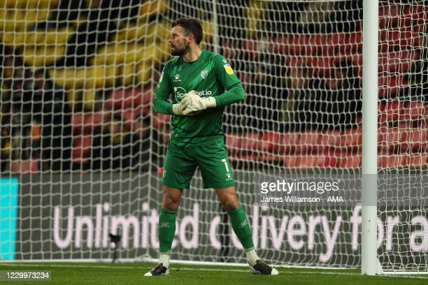 Ben Foster of Watford during the Sky Bet Championship match between Watford and Cardiff City at Vicarage Road on December 5, 2020 in Watford, England.
