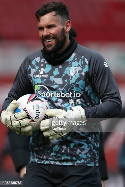 Ben Foster of Watford during the Sky Bet Championship match between Middlesbrough and Watford at the Riverside Stadium, Middlesbrough, England on 5th...