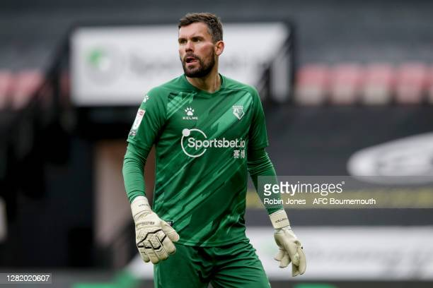 Ben Foster of Watford during the Sky Bet Championship match between Watford and AFC Bournemouth at Vicarage Road on October 24, 2020 in Watford,...