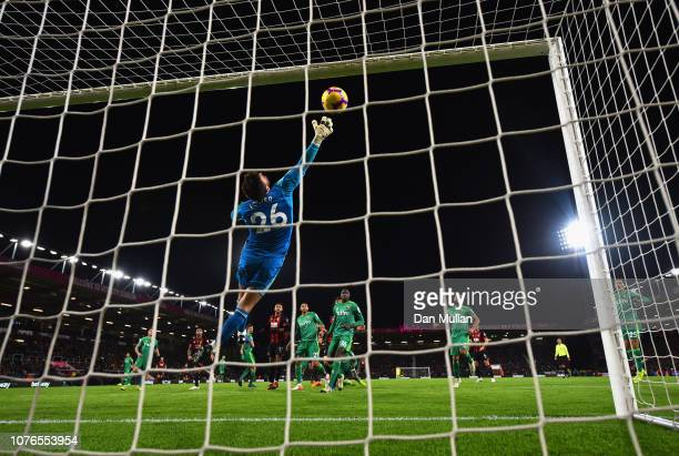 Ben Foster of Watford fails to stop Callum Wilson of AFC Bournemouth as he scores his team's second goal during the Premier League match between AFC...