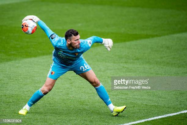 Ben Foster of Watford FC during the Premier League match between Watford FC and Newcastle United at Vicarage Road on July 11 2020 in Watford United...