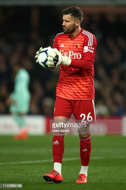 Ben Foster of Watford looks dejected after a mistake leads to Arsenal's first goal during the Premier League match between Watford FC and Arsenal FC...