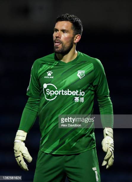 Ben Foster of Watford looks on during the Sky Bet Championship match between Wycombe Wanderers and Watford at Adams Park on October 27, 2020 in High...