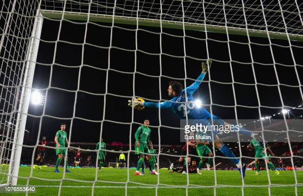Ben Foster of Watford makes a save during the Premier League match between AFC Bournemouth and Watford FC at Vitality Stadium on January 2 2019 in...