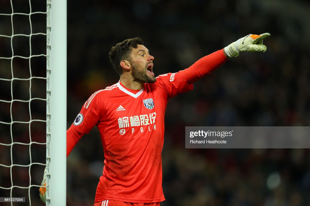 Ben Foster of West Brom in action during the Premier League match between Tottenham Hotspur and West Bromwich Albion at Wembley Stadium on November 25, 2017 in London, England.